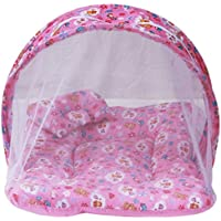 (SUMMER SPECIAL) Firststep Combo Of Baby Pink Mosquito Net Bed And New Born Baby Front Open Jhabla Set Pack Of...