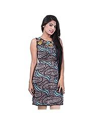 India Colors Browm Printed Cotton Kurti