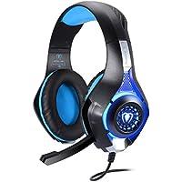 TurnRaise EACH G2100 Comfortable LED 3.5mm Stereo Gaming LED Lighting Over-Ear Headphone Headset With Mic For... - B01G5DQA3G