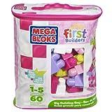 Mega Bloks First Builders Big Building Bag (Pink) (60-Piece)