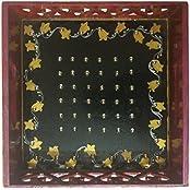 Kalanjali Wooden Decorative Tray (18 Cm X 5 Cm X 18 Cm, Purple)