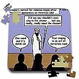 Rich Diesslins Funny General - Editorial Cartoons - Osama Sore Loser on American Idol - 10x10 Inch Puzzle (pzl_2805_2)
