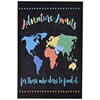"""The Kids Room By Stupell """"Adventure Awaits World Map"""" Wall Plaque Art"""