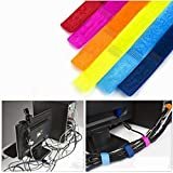 Colorful Cable Wire Velcro Ties Curtain Marker Straps Belts Holders (Set Of 6 Multipurpose, Assorted Colors)