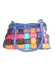 CLICKTIN Women Shoulder Bag With Criss Cross Design Blue