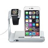 VTin Dual Stand para Apple Watch/ Soporte de Aleación de Aluminio para iPhone y Apple Watch/ Plataforma de Cargar para Apple Watch & iPhone
