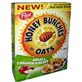 Post Honey Bunches Of Oats Breakfast Cereal W/ Real Apples & Cinnamon 14.5oz 411g Pack Of 4