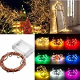 Sellify Green : Generic 4M 40 LED Copper Wire Fairy String Light Battery Powered Waterproof Xmas Party Décor-green - B071HKJ41V