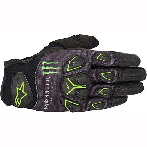 Alpinestars Drakonis - Guantes de motocicleta, diseño de Monster, color negro y verde Verde verde Talla:XXL