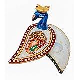 Crafticia Craft Traditional Rajasthani Handicraft Marble Peacock Chopda