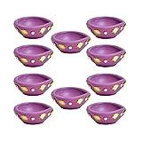 Kriti Creations Set Of 10 Traditional Clay Diyas