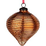 EarthenMetal Handcrafted Bronze Coloured Christmas Glass Decoratives / Hanging Ball-5inch