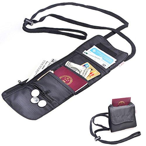 TFY Pasaporte, Bolsa Cuello Tarjeta y Ticket Cheques