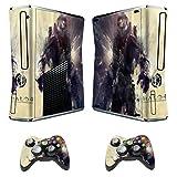 Designer Skin Sticker For Xbox 360 Slim Console + Two Wireless Controller Decals- Halo 4