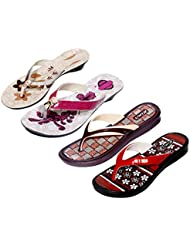 Krocs Super Comfortable Combo Pack Of 2 Pair Flip Flop With 2 Pair Slippers For Women (Pack Of 4 Pair) - B01JS6U8IK