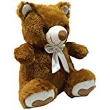 Kuddles Spongy Teddy Bear 15 Inches Soft Toy Gifts (Dark Brown)