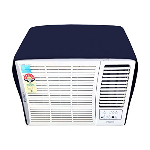 Dream Care Navyblue Colored Waterproof And Dustproof Window AC Cover For Voltas 183 DY Delux Y Series AC 1.5 Ton 2 Star Rating