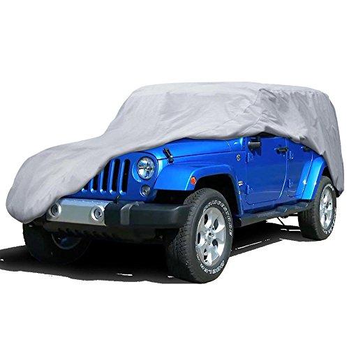 Motor Trend Outdoor Cover for JEEP Wrangler 4 Door, All Weather Water Proof