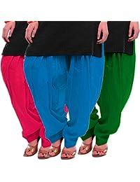 Women's Rani Firozi-Green Cotton Patiala Salwar