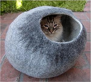 Amazon.com : Beautiful Felted Wool Cat Cave - Modern Pet