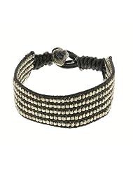 Black And White Wrist Bracelet Unisex Fashion Jewelry Indian Artisan Crafted (MN-srbrclt009)