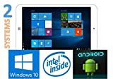 8 inch WINDOWS 10 Tablet Dual System + Android Tablet PC 8 inch Intel Z3735F Quad Core 1.33GHz Windows 10 Tablet PC 32GB ROM Dual Cameras 2.0MP Bluetooth 4.0 OTG HDMI Battery 4200mAh Tablet (32GB ROM, Standard) Christmas Gift Windows 10 Tablet Cheap with WiFi Bluetooth 4.0 Support BBC iPlayer PC Android 5.0 Now