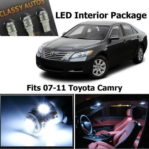 Classy Autos Toyota Camry White Interior LED Package (6 Pieces)