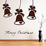 Decal Style Christmas Bells Wall Sticker Tiny Size- 16*16 Inch - B00WSMPAGC