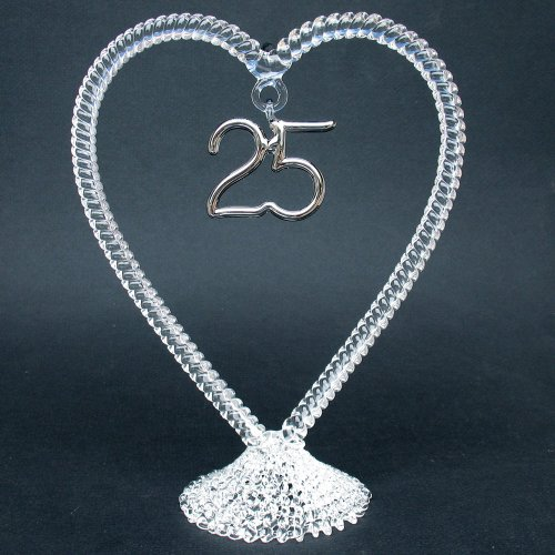 25th wedding anniversary cake toppers 25th anniversary wedding cake topper blown glass best 1073