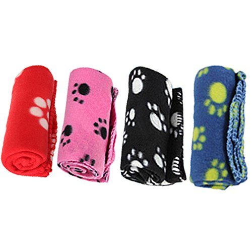 {Factory Direct Sale} Pet Puppy Dog Cat Paw Print Fleece Blanket Mat Pad Cover Bed Random Color
