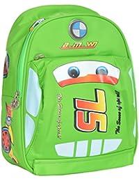 GOURibags Polyester 10 Liters Green Car Shape School Bag Bag For Kids /Tuition Bag For Boys/Classess Bag For Kids...