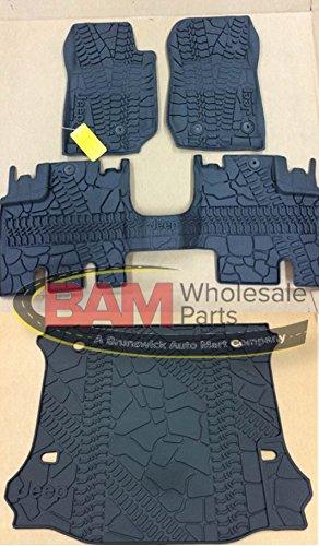 2016 Jeep Wrangler Unlimited 4-Door Slush Mats Cargo Mat Kit OEM All Weather Mopar 82213860 82213184