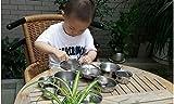 Edelstahl Küchengeräte Kochgeschirr Kinder Simulation Kochen Spielset-32 teilig -