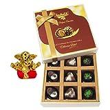 Chocholik Belgium Chocolates - Amazing Colorful Surprise Of Assorted Chocolates With Small Ganesha Idol - Diwali...