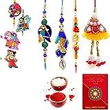 Gomati Ethnic Handmade Designer Exclusive 8 Pc Family Rakhi Set Rakhi Gifts For Brother Free Shipping+Roli+Chawal+Greeting Card !! 2Bb4Ks330