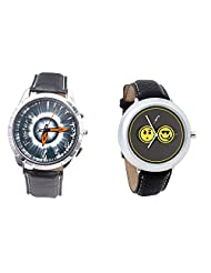 Foster's Men's Grey Dial & Foster's Women's Grey Dial Analog Watch Combo_ADCOMB0002332