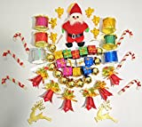 Artshai 50 pieces christmas decoration items set. Contains drums, santa,ball,bell,angel,gift,stick,reindeer