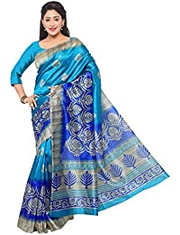 Vaamsi Women's Mysore Art Silk Saree With Blouse Piece(MS1001_Blue_Free Size)