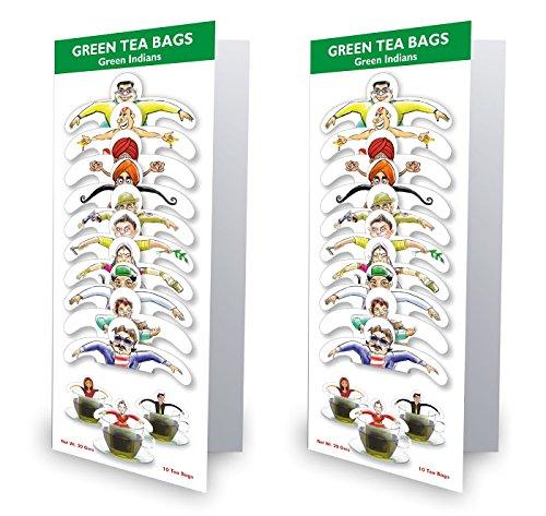 99 Tea Plain Tea Green Tea (10 Sachets, Pouch)