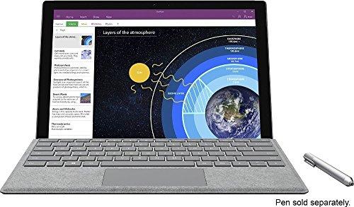 Microsoft Surface Pro 4 (128 GB, 4 GB RAM, Intel Core M) Bundle With Backlit Keyboard - Silver
