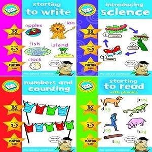 Pre School Activity Workbooks with Reward Stickers