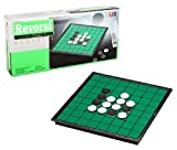 SPJ: Magnet Reversi Classic Table Games Compact Storage Othello 10*10*0.8in
