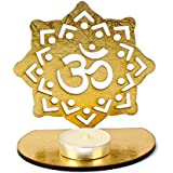Giftacrossindia Shadow Diya Tealight Candle Holder Of Removable OM For Diwali Home Decor Gift Collection