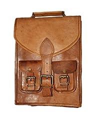 """HLC-(Handmade Leather Craft) 15"""" Real Leather Rucksack Handmade Messenger Vintage Bag Backpack Satchel"""