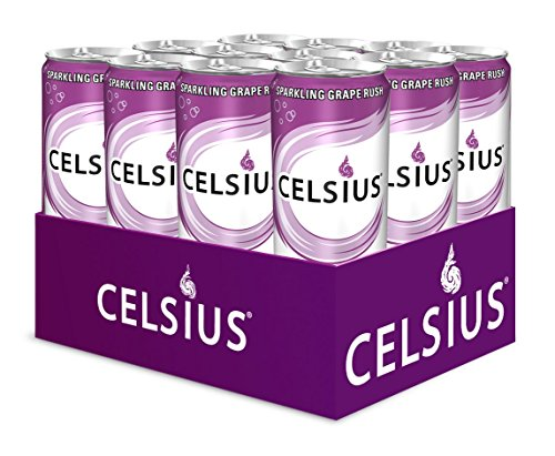 Celsius Sparkling Grape Rush, 12 Ounce (Pack of 12)
