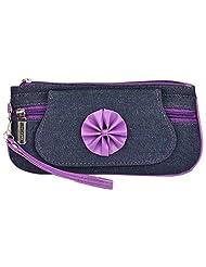 Fristo Women's Clutch (Blue & Purple, FOB-020)