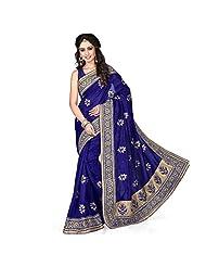 EthnicCrush Blue KANCHI SILK & DUPIAN Saree