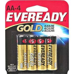 Amazon.com: ENERGIZER AA4 EVEREADY AA Alkaline Battery