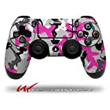 Sexy Girl Silhouette Camo Hot Pink Fuschia - Decal Style Wrap Skin Fits Sony PS4 Dualshock Controller