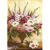 Vitalwalls Pink Flower Bouquet Painting (Static-430-45, Canvas Print, 45 Cm X 63 Cm)